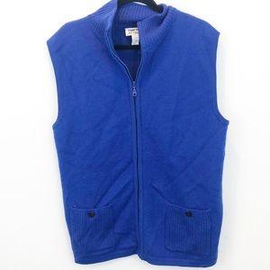 Chico's | Royal Blue Zip-up Vest